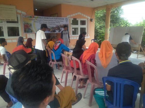 Persiapan Pembuatan Peta Partisipatif Desa Batu Ampar Laksanakan Pelatihan