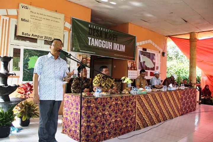 Gubernur Bengkulu Resmikan Batu Ampar Sebagai Desa Kopi Tangguh Iklim
