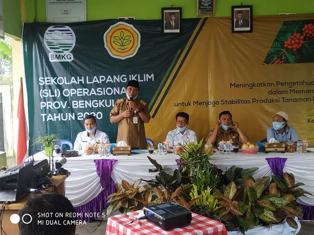 BMKG Bengkulu Pembukaan Sekolah Lapangan Iklim